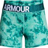 Under Armour Girls 7-16 HeatGear Printed Shorty Shorts