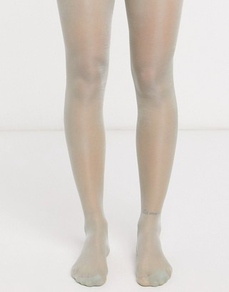 Pretty Polly high shine sheer tights in green