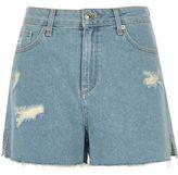 River Island Womens Light blue raw hem distressed shorts