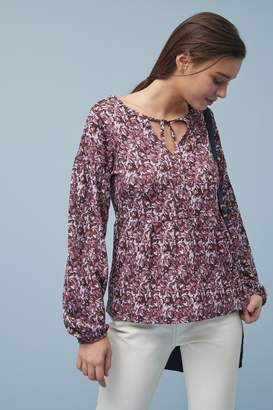 Next Womens Berry Ditsy Print Textured Top - Red