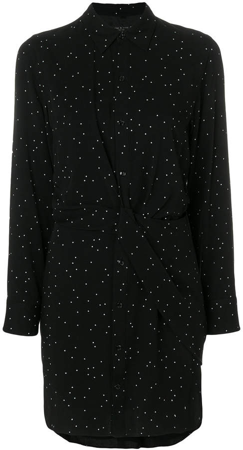 Rag & Bone polka dot shirt dress