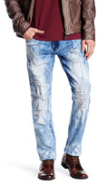 X-Ray Blue Distressed Slim Fit Jean