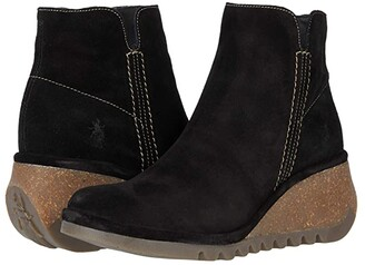 Fly London NILO256FLY (Black Oil Suede) Women's Shoes
