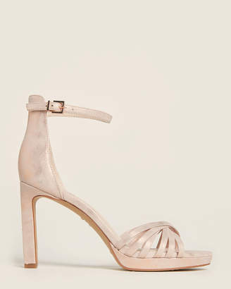 Vince Camuto Blush Beresta Ankle Strap Suede Sandals