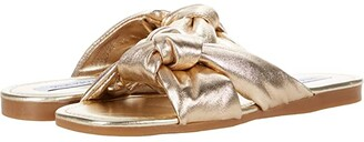 Steve Madden Entrada Sandal (Gold Leather) Women's Shoes