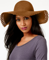 Nine West Perforated Floppy Felt Hat