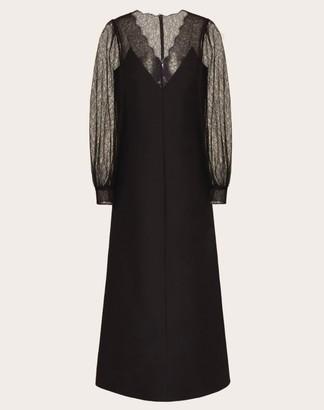 Valentino Sheer-Sleeve Maxi Dress