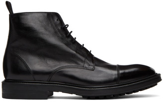Paul Smith Black Cubitt Wingtip Boots