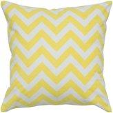 """Rizzy Home Chevron Decorative Throw Pillow, Yellow, 18 x 18"""""""