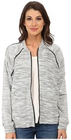 DKNY Textured Terry Mesh Trim Bomber