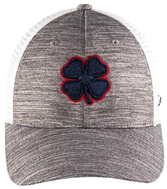 Black Clover Perfect Luck 1 Hat (Navy Clover/Red Trim/Grey/White) Baseball Caps