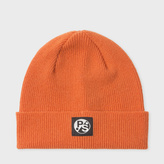 Paul Smith Women's Burnt Orange Lambswool Beanie Hat