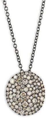 Etho Maria Vibrant 18K Rose Gold & Brown Diamond Disc Necklace