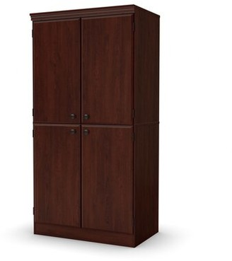 Andover Mills Caines 4-Door Storage Cabinet Color: Royal Cherry