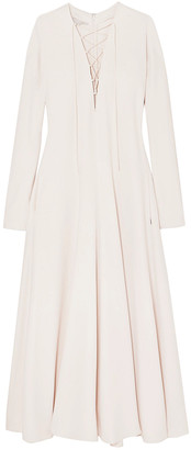 Stella McCartney Juliet Lace-up Stretch-cady Maxi Dress
