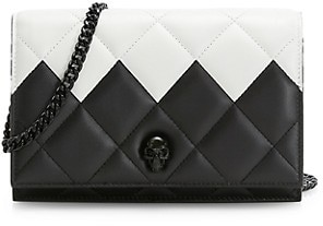 Alexander McQueen The Small Skull Two-Tone Leather Bag