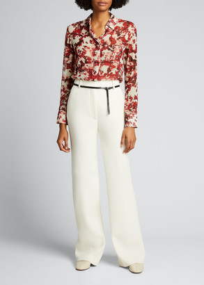 Altuzarra Abstract Printed Georgette Blouse
