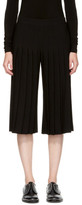 Neil Barrett Black Pleated Wide-leg Trousers