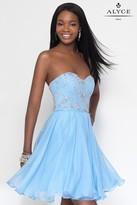 Alyce Paris - 3680 Short Dress In Royal Silver