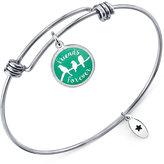 "Unwritten Friends Forever"" Adjustable Message Bangle Bracelet in Stainless Steel"