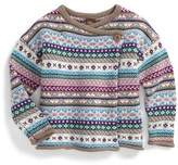 Tea Collection Girl's Caspian Fair Isle Knit Cardigan