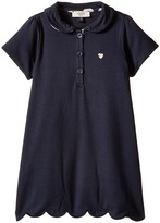 Armani Junior Short Sleeve Dress with Scallop Hem (Infant)