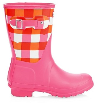 Hunter Original Short Gingham Rain Boots