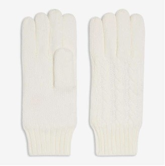 Joe Fresh Women's Cable Knit Gloves, Off White (Size O/S)