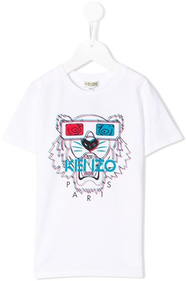 Kenzo Kids 3d style tiger T-shirt