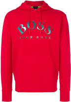 HUGO BOSS logo print hoodie