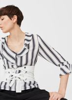 MANGO Ruffle neckline blouse