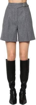 Ermanno Scervino Pinstriped High Waist Mini Shorts
