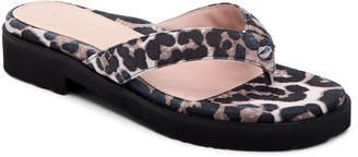 Taryn Rose Collection Taziana Leopard-Print Thong Sandals