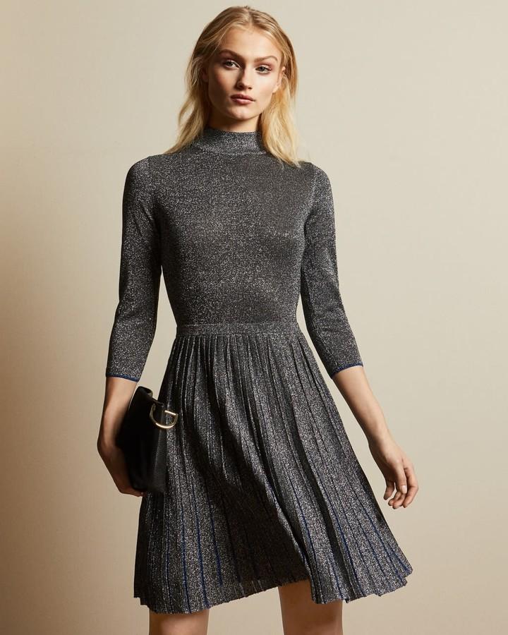Ted Baker High Neck Mini Knitted Dress