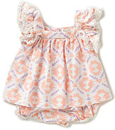 Jessica Simpson Baby Girls Newborn-9 Months Printed Ruffle Pleated Dress