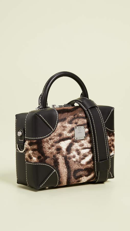 MCM Soft Berlin Leopard Small Crossbody Bag
