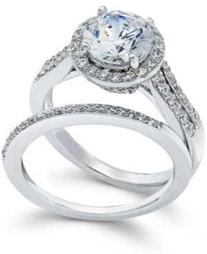 Arabella Swarovski Zirconia Bridal Set in Sterling Silver (4 ct. t.w.)