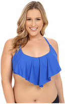 Becca by Rebecca Virtue Plus Size Becca ETC Janis Flounce Top