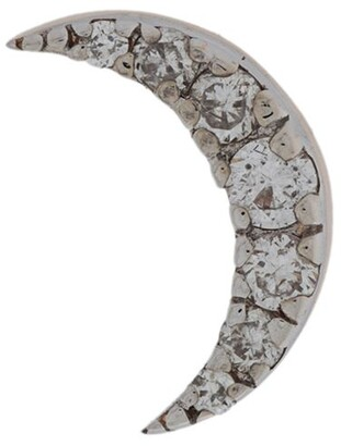 Kismet by Milka 14kt rose gold Moon Piercing diamond stud