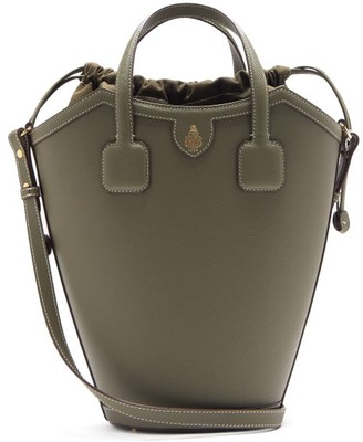 Mark Cross Madeline Saffiano-leather Bucket Bag - Green