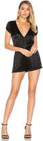 Karina Grimaldi Mona Beaded Romper in Black. - size M (also in S)