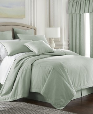 Colcha Linens Cambric Seafoam Duvet Cover-Twin Bedding