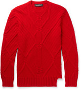 Neil Barrett Cable-Knit Wool Sweater