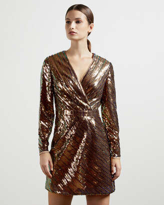 Ted Baker PIPII Stripe sequin mini dress