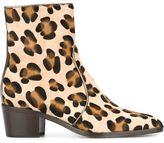 Jean-Michel Cazabat leopard print ankle boots