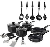 Morphy Richards Equip 5 Piece Pan Set with 9 Piece Tool Set - Black