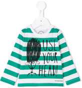 Burberry longsleeved striped T-shirt - kids - Cotton - 9 mth