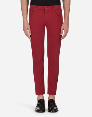 Dolce & Gabbana Five Pocket Trousers In Stretch Cotton