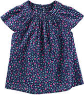 Osh Kosh Oshkosh Bgosh Toddler Girl Smocked Floral Dobby Top