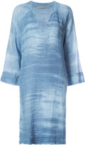 Raquel Allegra beach V-Neck denim dress